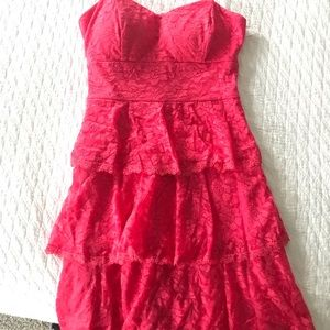 Dresses & Skirts - Gorgeous coral lace strappy dress!